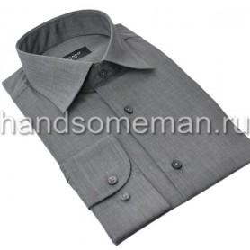 Мужская классическая рубашка серая, меланж. 958