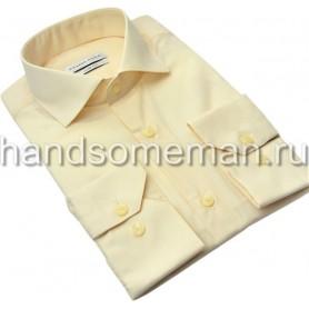 Мужская классическая рубашка, персиковая. 961