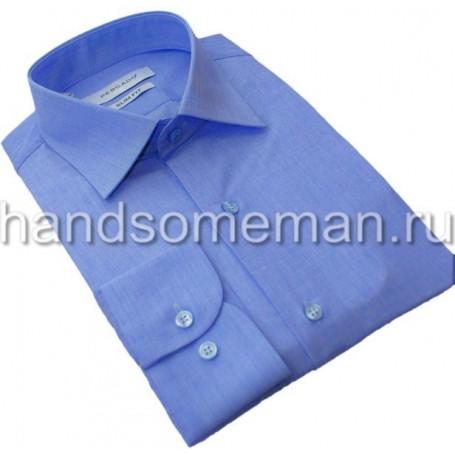 Мужская классическая рубашка, голубой меланж. 963