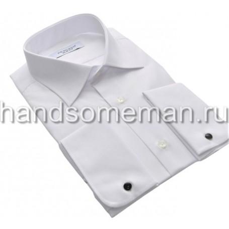 Мужская классическая рубашка белая под запонки. 967