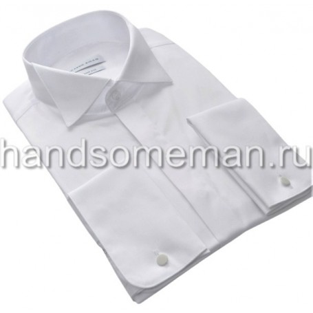 Мужская классическая рубашка под запонки, белая. 969