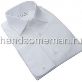 Мужская рубашка под запонки, белая. 973