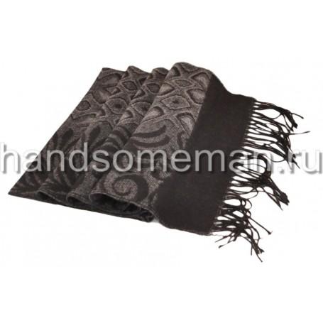 Темный шарф с рисунком. 1000