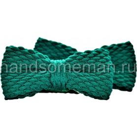 Бабочка вязанная, зеленая. 1040