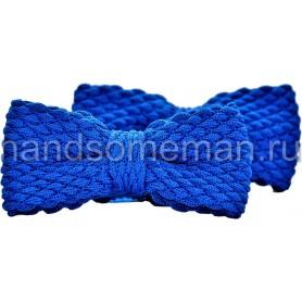 Бабочка вязанная, синяя. 1041