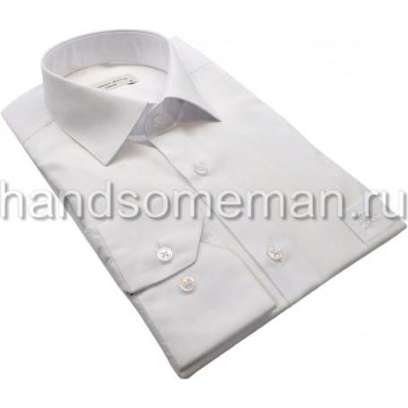 рубашка мужская, приталенная, белая.1077