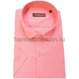 рубашка короткий рукав, светло малиновая. 318
