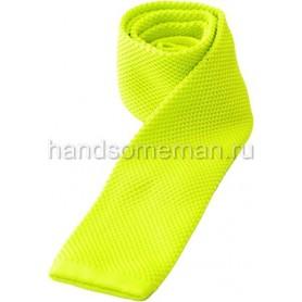 Вязанный галстук желтого цвета. 1095