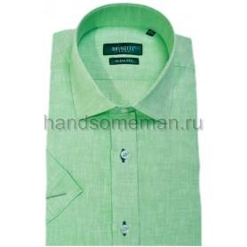 рубашка короткий рукав, зеленая. 319