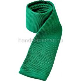 Галстук вязаный, светло-зеленый. 1103