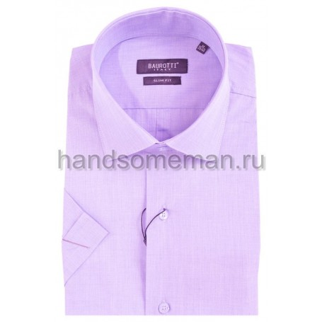 рубашка короткий рукав, светло сиреневая. 326