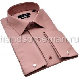 рубашка мужская, темно-кремовая. 1187
