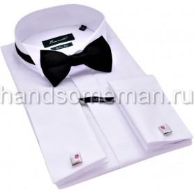 рубашка под бабочку, лонг, удлиненный рукав. 1191