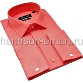 рубашка мужская под запонки, кирпичная. 1196