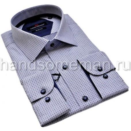 Мужская рубашка, набивная, комбинированная. 1222
