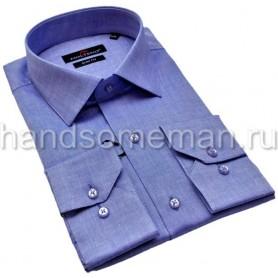 Мужская рубашка, синий меланж. 1224