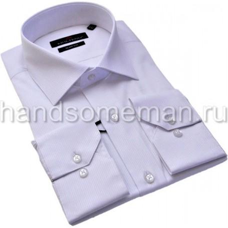 рубашка бледно-сиреневая, офисная. 1231