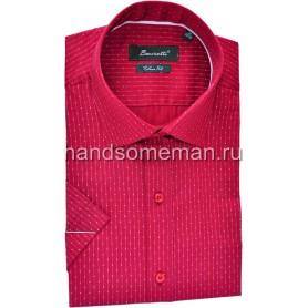 рубашка мужская короткий рукав, бордо. 1233