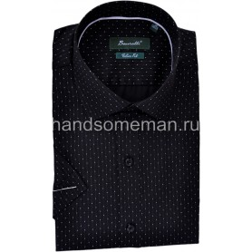 рубашка короткий рукав, черная. 1237