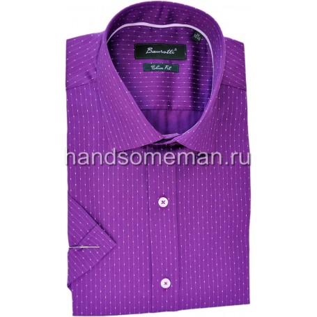 рубашка мужская с коротким рукавом, фиолетовая в крапинку. 1238