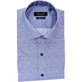рубашка мужская с коротким рукавом в мелкий цветочек. 1245