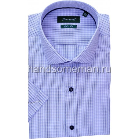 рубашка мужская с коротким рукавом, оригинальная клетка. 1247
