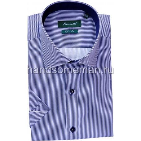рубашка мужская с коротким рукавом, в мелкую полоску.1248