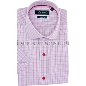 рубашка мужская с коротким рукавом с красными пуговицами. 1250