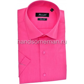рубашка мужская с коротким рукавом, малиновая. 1254