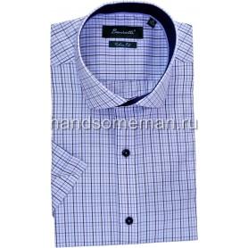 рубашка мужская с коротким рукавом, оригинальная клетка.1255