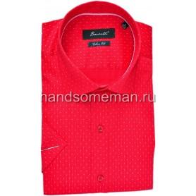 рубашка мужская с коротким рукавом, красная. 1256