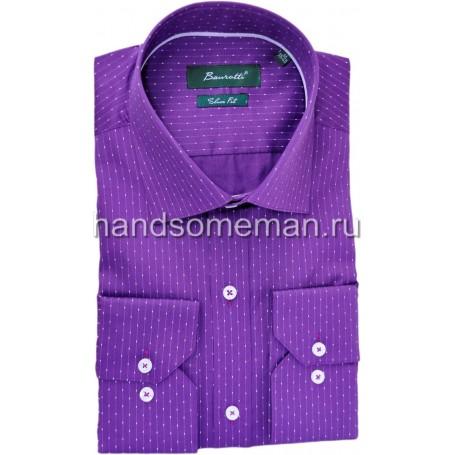 рубашка мужская, глубокий фиолет. 1263
