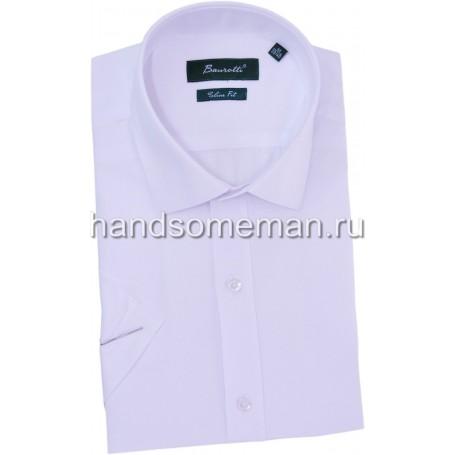 рубашка мужская с коротким рукавом, белая.1267