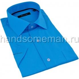 рубашка с коротким рукавом, яркая бирюза. 1295