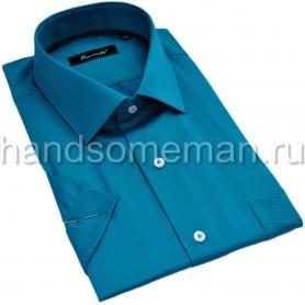 рубашка мужская с коротким рукавом, приталенная. 1299