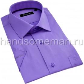 рубашка мужская с коротким рукавом, воротник типа акула. 1300