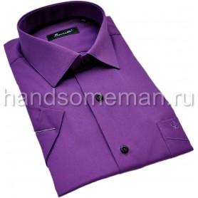 рубашка мужская с коротким рукавом, темная. 1301