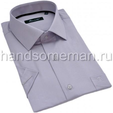 рубашка мужская с коротким рукавом, серая. 1304
