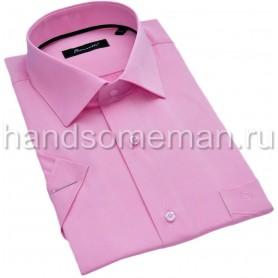 рубашка мужская с коротким рукавом, розовая. 1306