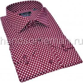 рубашка для мужчин, бордовая. 1337
