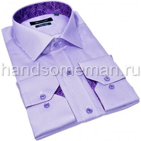 рубашка в полоску с отделкой. 1344