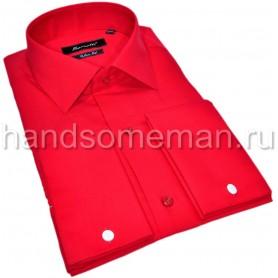 Красная рубашка под запонки. 1345