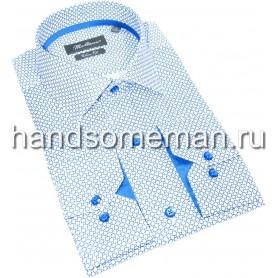 Мужская рубашка в крапинку. 1356