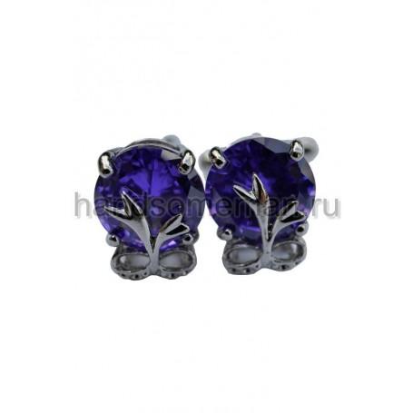 Запонки с синими камнями. 388