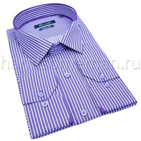 рубашка мужская розовая в полоску Арт.№1452