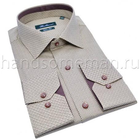 рубашка мужская серая в горошек Арт.№1455