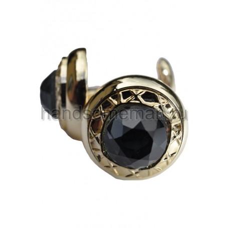 Запонки Baurotti с черным камнем. 398
