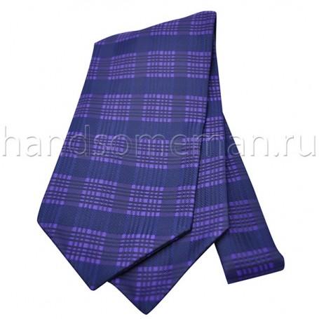 Шейный платок, синий в клетку.  Арт.№1473