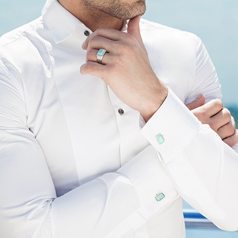 Мужские рубашки под запонки
